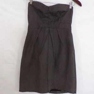Silence + Noise Strapless Raw Hem Dress, Sz 8